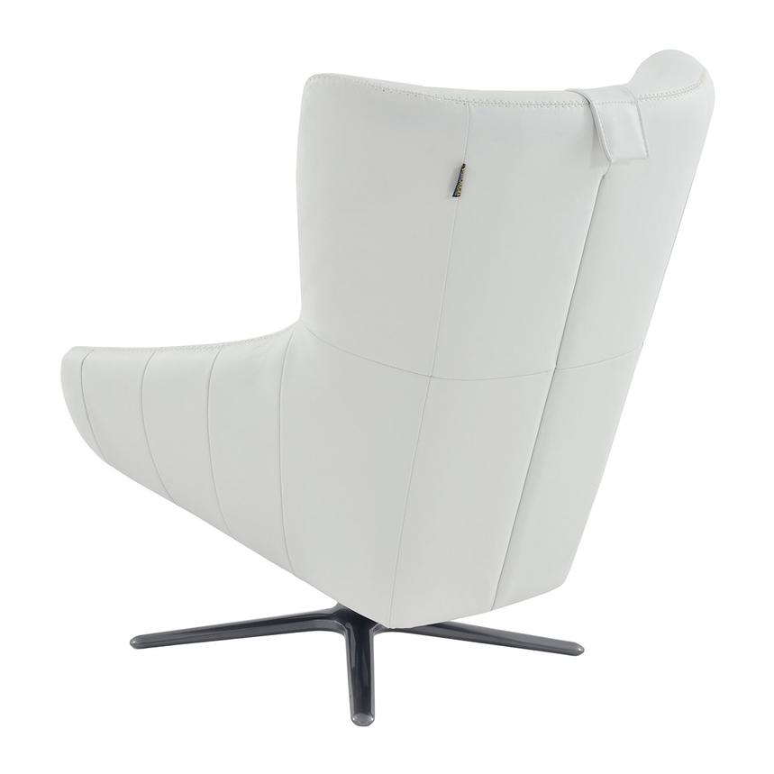 Clara White Leather Swivel Chair  alternate image, 6 of 8 images.