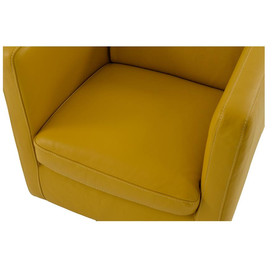 Cute Yellow Leather Swivel Chair  alternate image, 5 of 6 images.