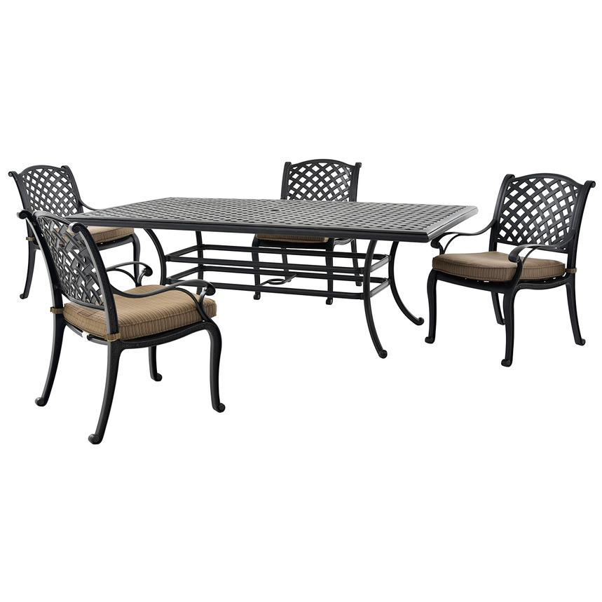 Castle Rock Brown 5-Piece Patio Set  main image, 1 of 9 images.