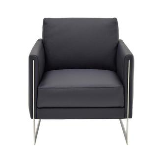 Coco Blue Leather Accent Chair