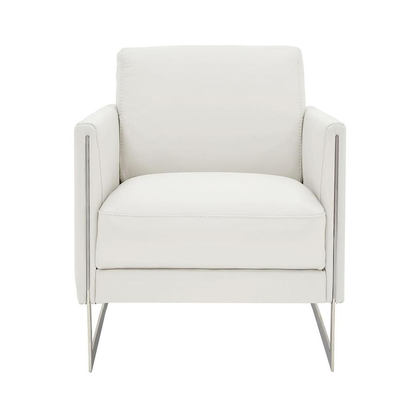Coco White Leather Accent Chair  main image, 1 of 5 images.