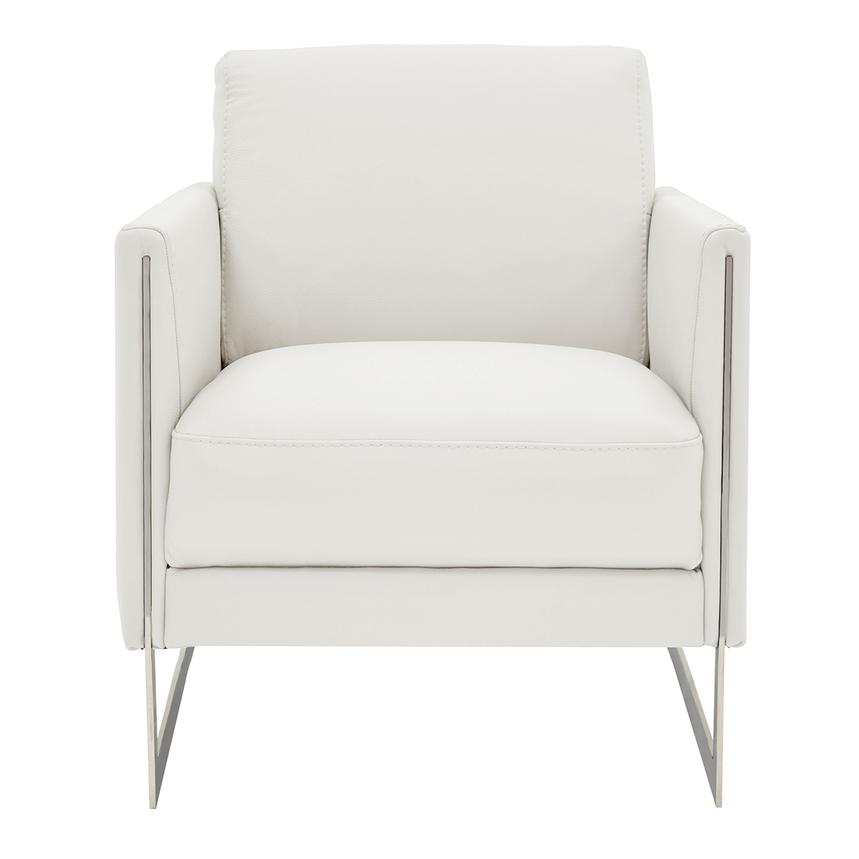 Coco White Leather Accent Chair  main image, 1 of 4 images.