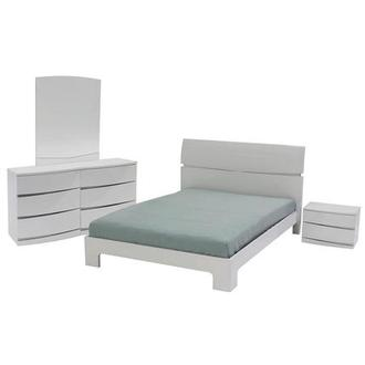 Brighton White 4-Piece Queen Bedroom Set