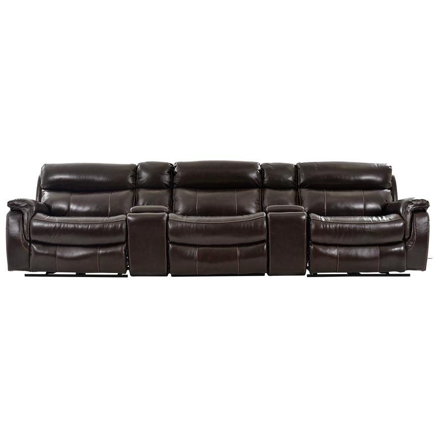 Jeremi Home Theater Leather Seating  main image, 1 of 9 images.