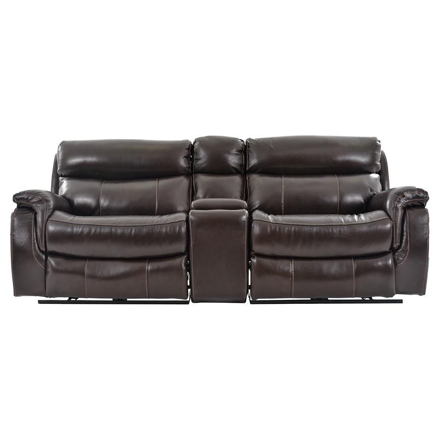Jeremi Power Motion Leather Sofa w/Console  main image, 1 of 10 images.