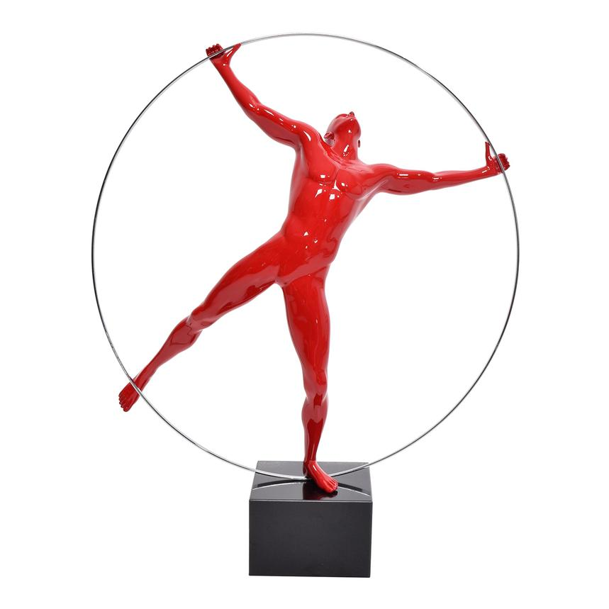 Ring Man Red Sculpture  main image, 1 of 4 images.