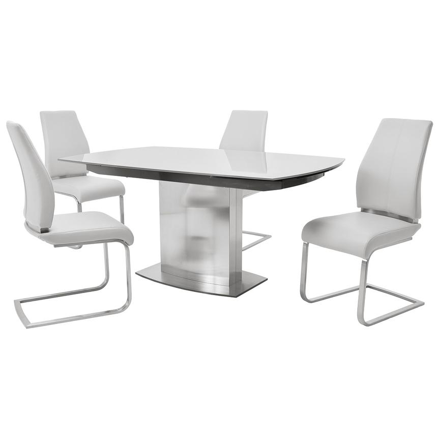 Mavis/Maday White 5-Piece Formal Dining Set  main image, 1 of 12 images.