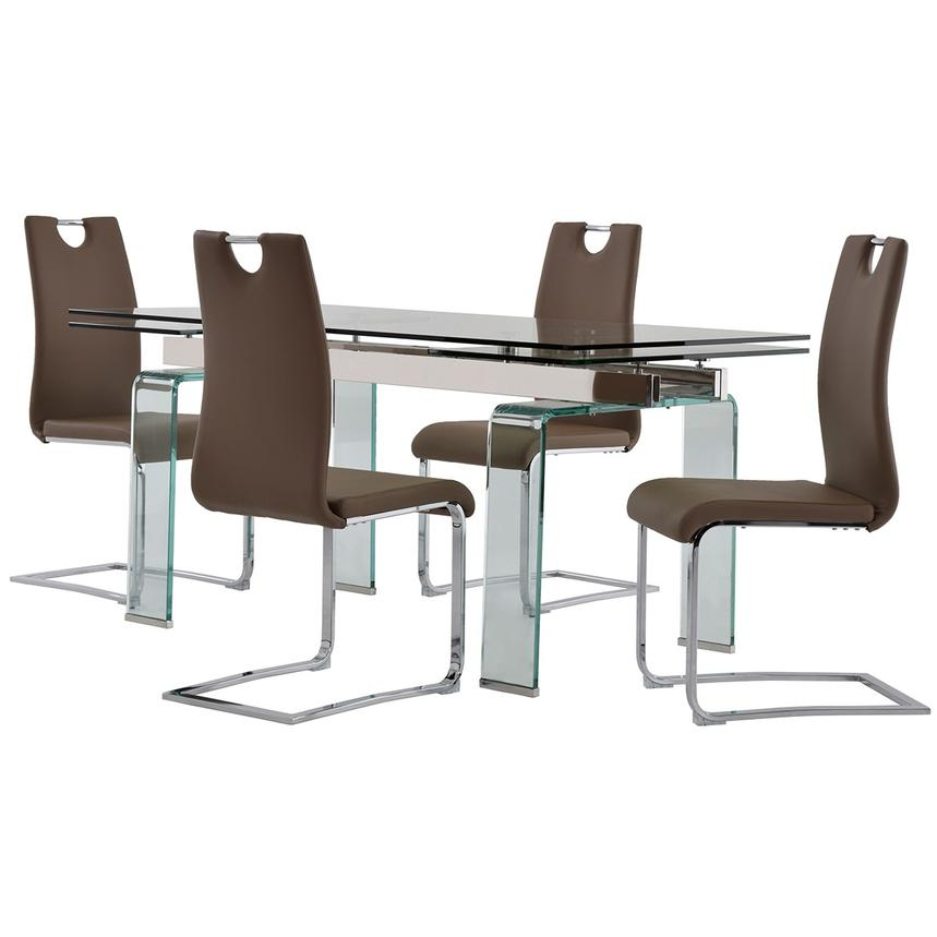 Millie/Josseline Taupe 5-Piece Formal Dining Set  main image, 1 of 12 images.