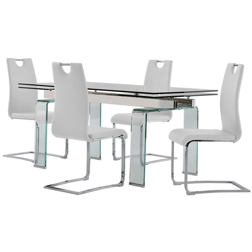 Millie/Josseline White 5-Piece Formal Dining Set  main image, 1 of 12 images.