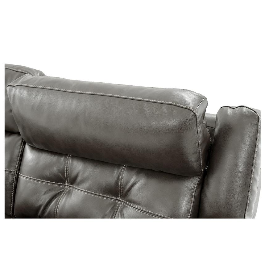 Stallion Gray Power Motion Leather Sofa w/Right & Left Recliners  alternate image, 6 of 10 images.