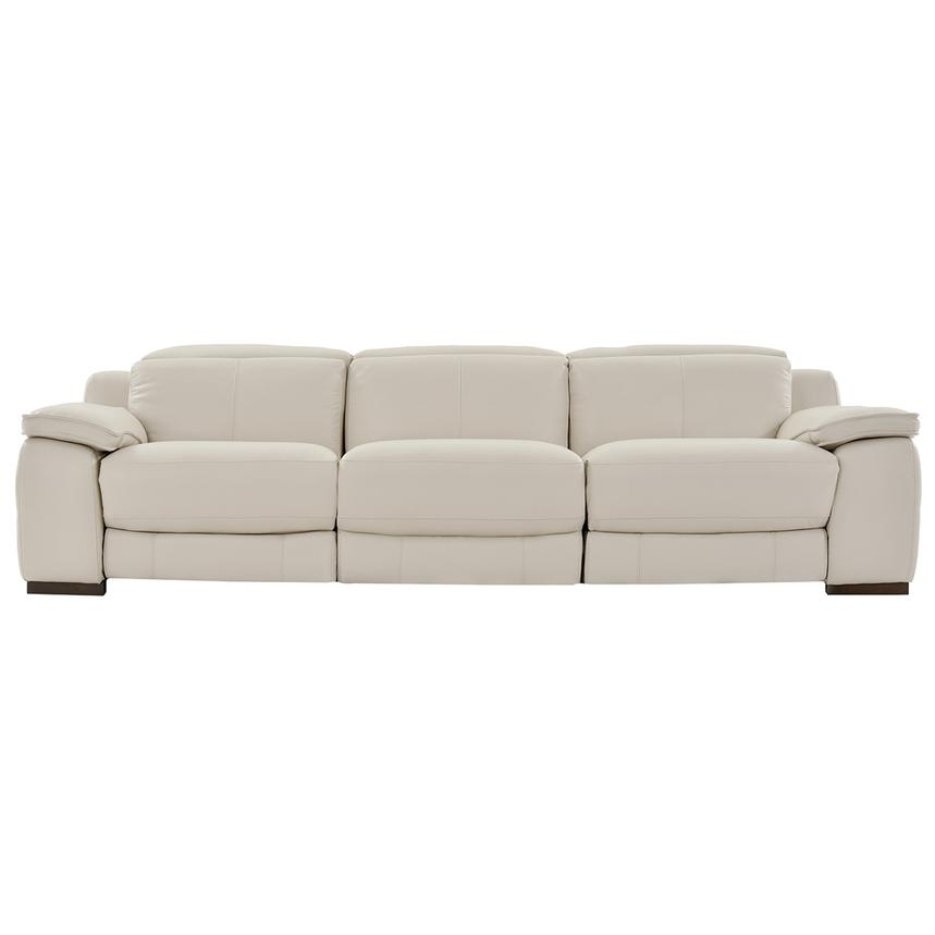 Gian Marco Cream Oversized Leather Sofa  main image, 1 of 9 images.