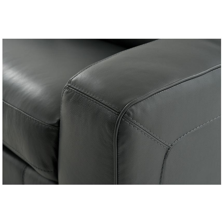 Jay Dark Gray Power Motion Leather Sofa w/Right & Left Recliners  alternate image, 6 of 7 images.