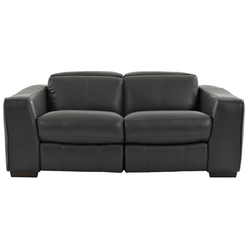 Jay Dark Gray Power Motion Leather Loveseat  main image, 1 of 7 images.