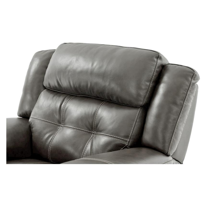 Stallion Gray Leather Power Recliner  alternate image, 5 of 8 images.