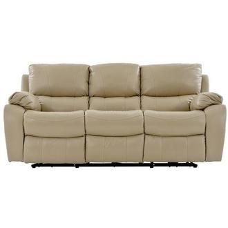 Mack Tan Power Motion Leather Sofa