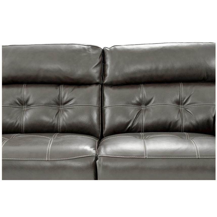 Stallion Gray Leather Power Reclining Sofa  alternate image, 6 of 10 images.