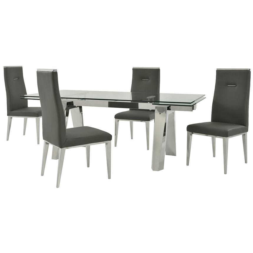 Madox/Hyde Gray 5-Piece Formal Dining Set  main image, 1 of 13 images.