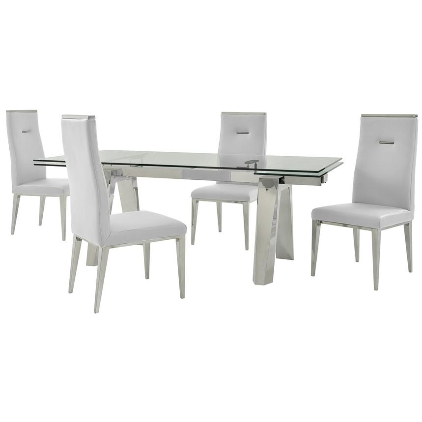 Madox/Hyde White 5-Piece Formal Dining Set  main image, 1 of 13 images.