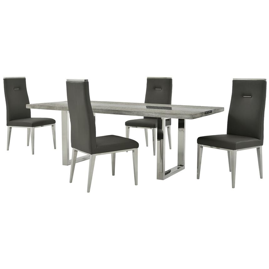 Skyscraper/Hyde Gray 5-Piece Formal Dining Set  main image, 1 of 12 images.