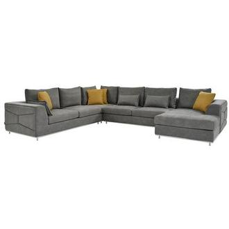 Grigio Gray Sectional Sofa w/Right Chaise