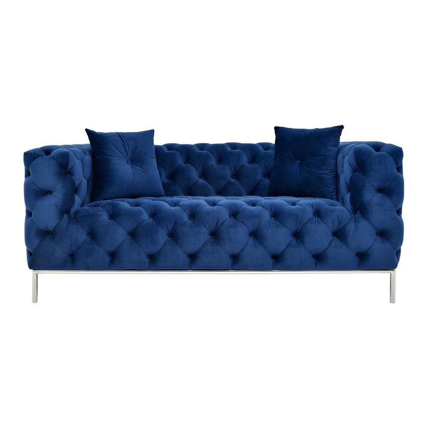 Crandon Blue Loveseat  main image, 1 of 8 images.