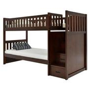 Balto Brown Twin Over Twin Bunk Bed w/Storage  alternate image, 4 of 7 images.