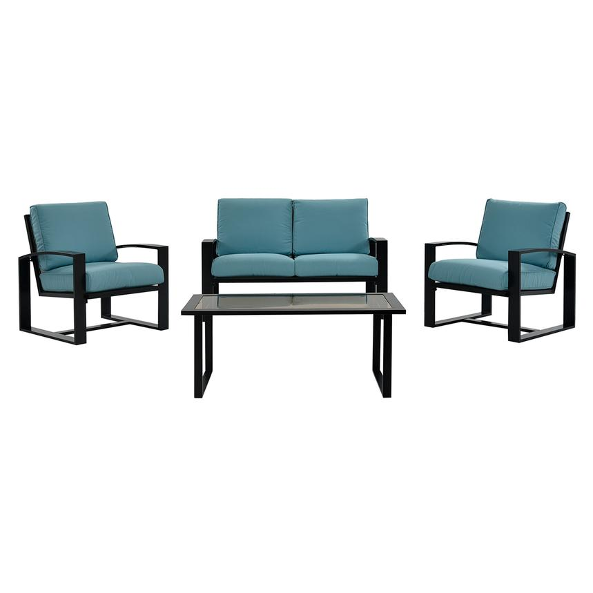 Almalfi Blue 4-Piece Patio Set  main image, 1 of 14 images.