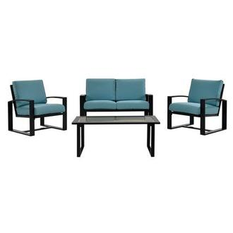 Almalfi Blue 4-Piece Patio Set