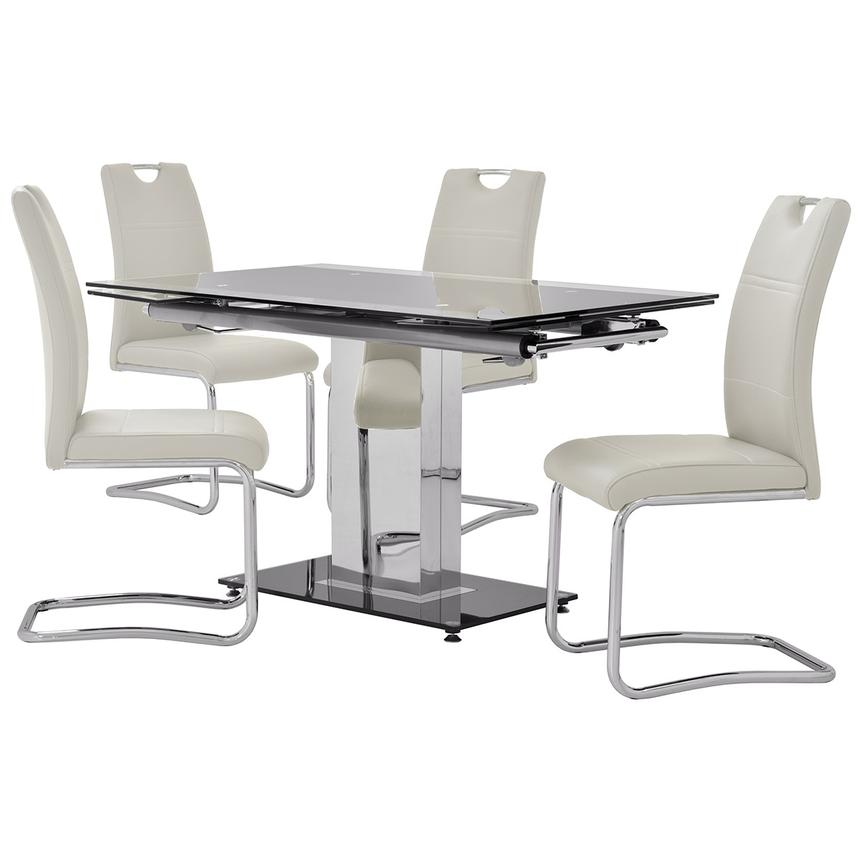 Antonia/Lila White 5-Piece Dining Set  main image, 1 of 13 images.