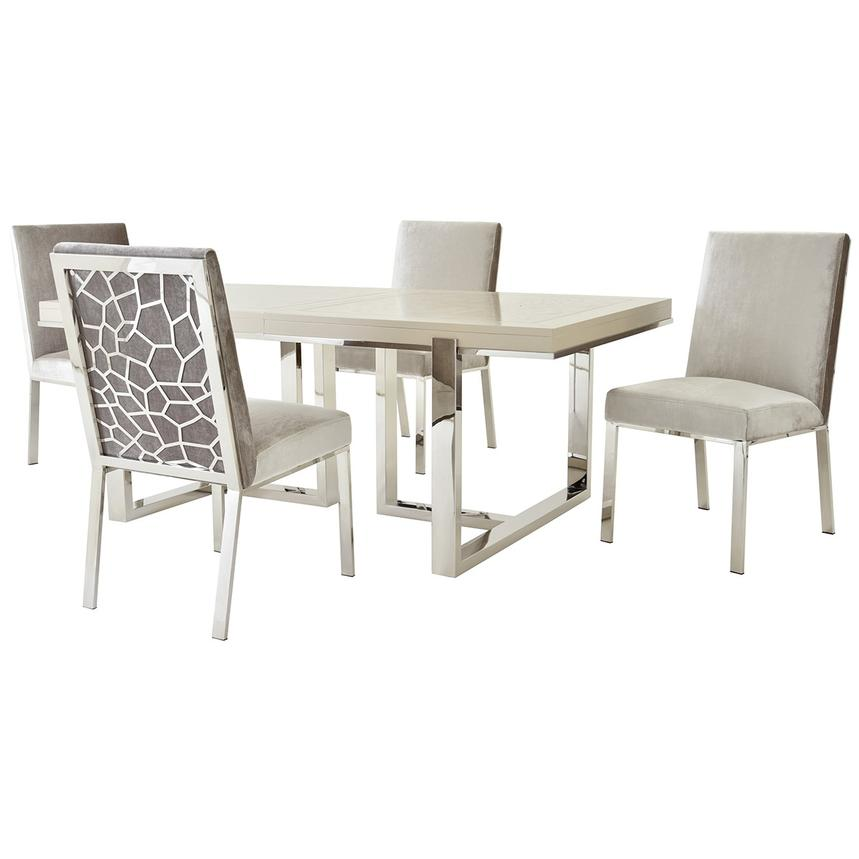 Cydney/Wellington Gray 5-Piece Formal Dining Set  main image, 1 of 12 images.