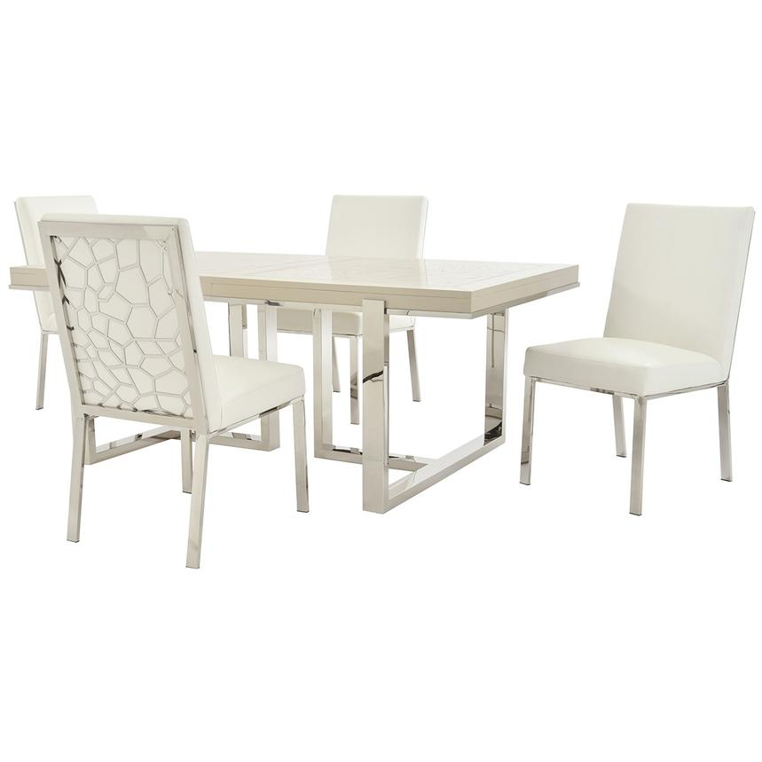 Cydney Wellington Silver 5 Piece Formal Dining Set El