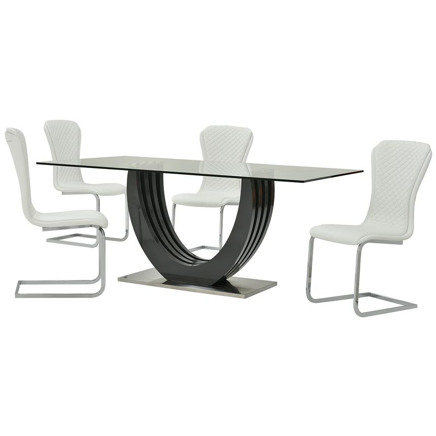 Rose White 5-Piece Casual Dining Set  main image, 1 of 11 images.