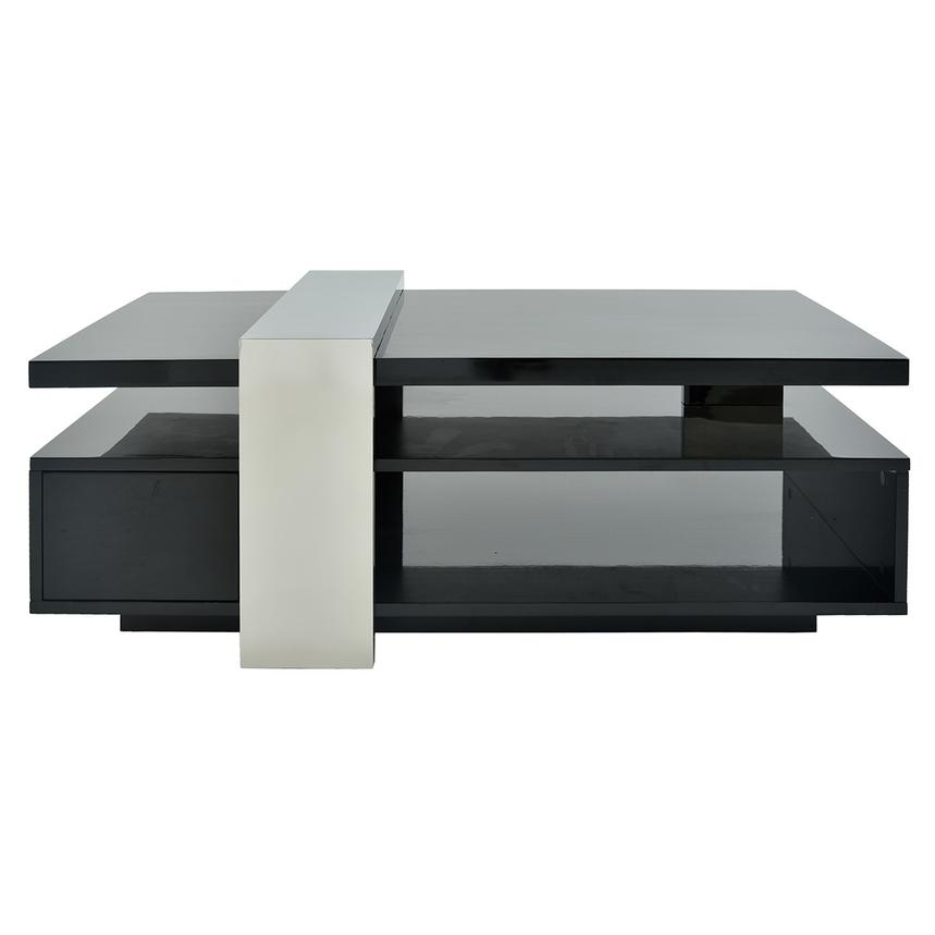 Totem Black Coffee Table w/Casters  main image, 1 of 9 images.