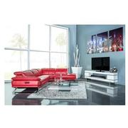 Toronto Red Leather Power Reclining Sofa w/Left Chaise  alternate image, 3 of 13 images.