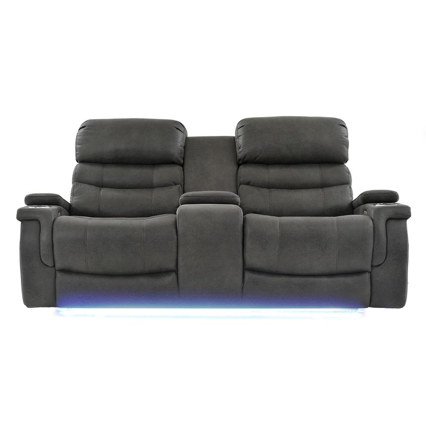 Lum Power Motion Sofa w/Console  main image, 1 of 10 images.