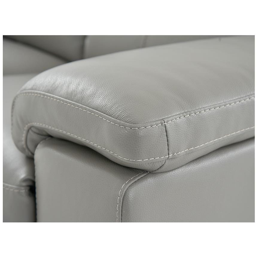 Charlie Gray Power Motion Leather Loveseat  alternate image, 6 of 7 images.