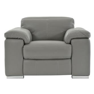 Charlie Gray Leather Power Recliner