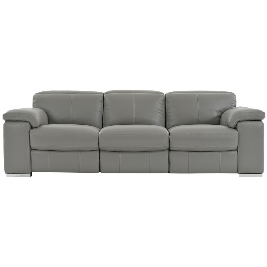 Charlie Gray Power Motion Leather Sofa  main image, 1 of 7 images.