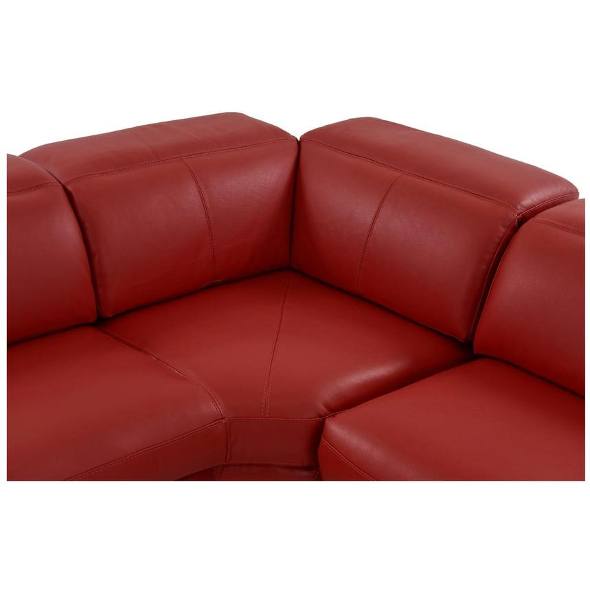 Toronto Red Leather Power Reclining Sofa w/Left Chaise  alternate image, 6 of 13 images.