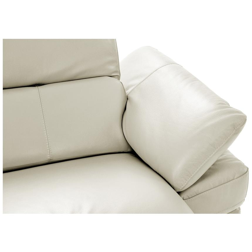 Toronto White Power Motion Leather Sofa w/Left Chaise  alternate image, 5 of 11 images.