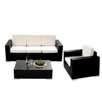 Neilina Black 3-Piece Patio Set