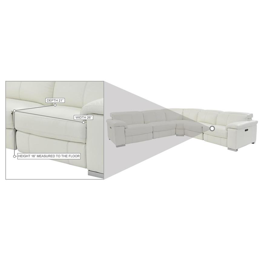 Charlie White Leather Power Reclining Sectional  alternate image, 11 of 11 images.