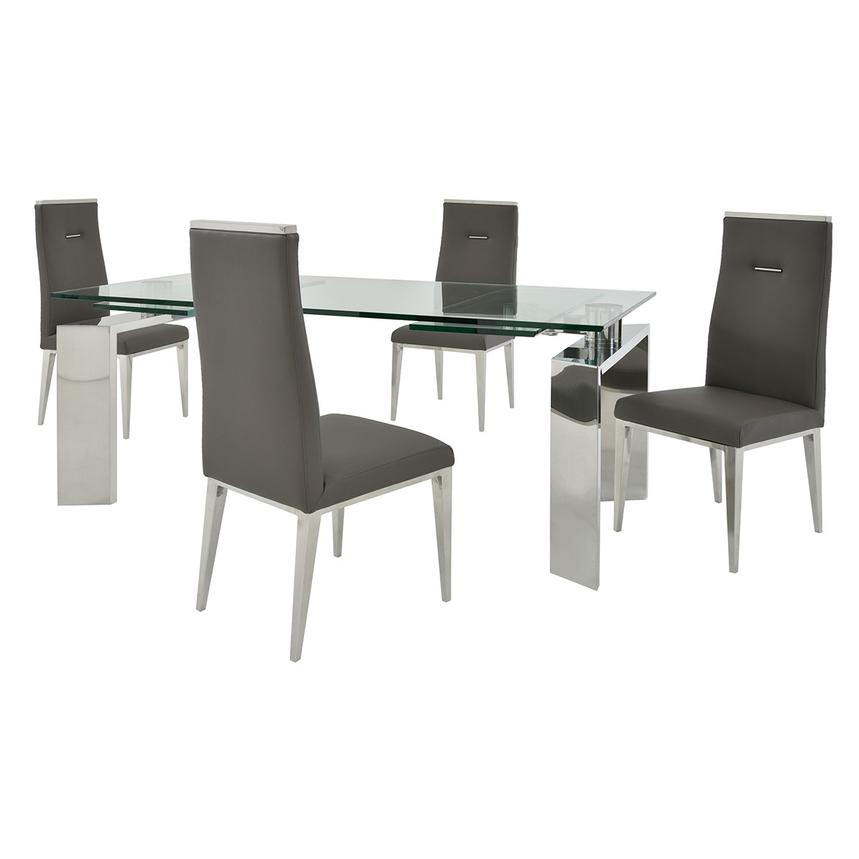 Melsar/Hyde Gray 5-Piece Formal Dining Set  main image, 1 of 15 images.
