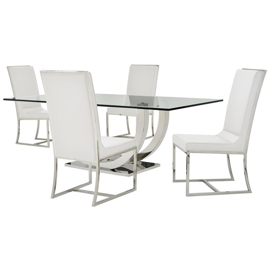 Ulysis/Sofitel White 5-Piece Formal Dining Set  main image, 1 of 10 images.