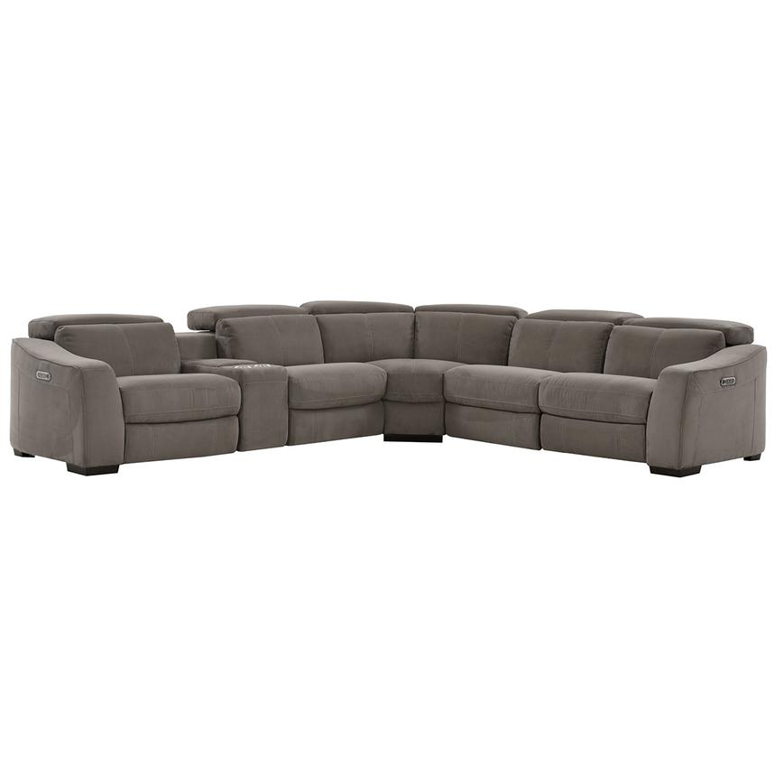Jameson Dark Gray Power Motion Sofa w/Right & Left Recliners  main image, 1 of 9 images.