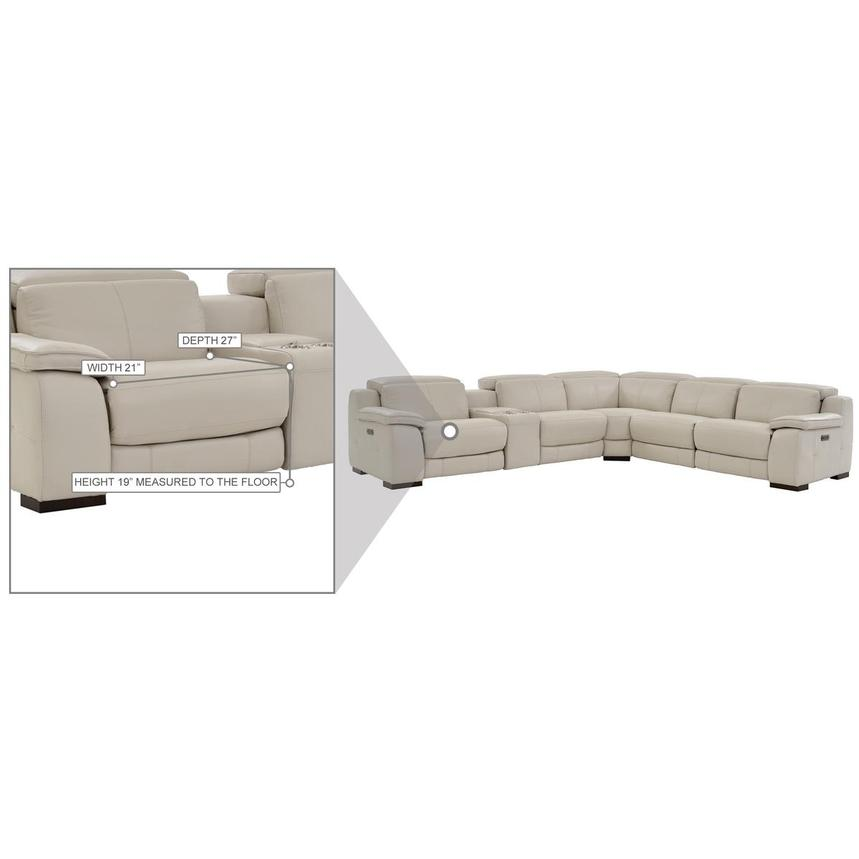 Gian Marco Cream Leather Power Reclining Sectional  alternate image, 9 of 9 images.