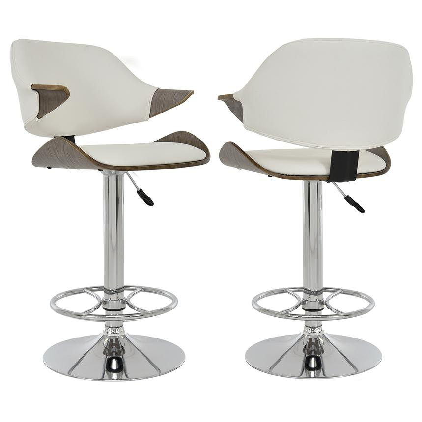 Chia White Adjustable Stool El Dorado Furniture