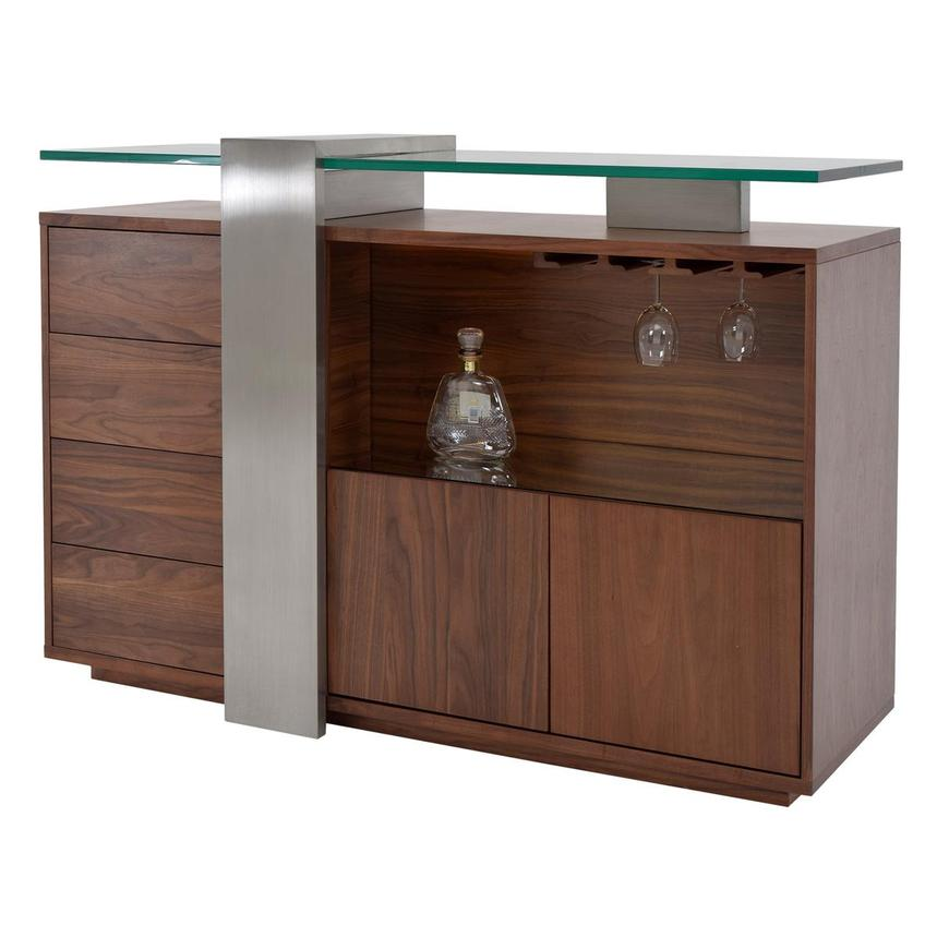 Totem Walnut Bar Cabinet  alternate image, 2 of 6 images.