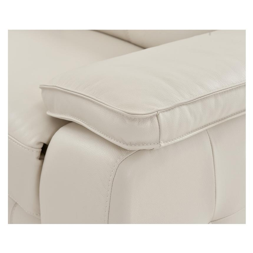 Gian Marco Cream Home Theater Leather Seating  alternate image, 7 of 10 images.
