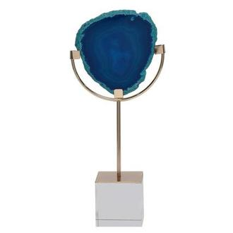 Agate II Blue/Gold Sculpture